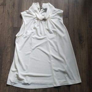 H&M White Short Sleeve Blouse